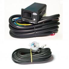 Комплект переключатель SGV универсальный карбюраторный и инжекторный с индикацией уровня газа + датчик уровня топлива 1050 с проводом