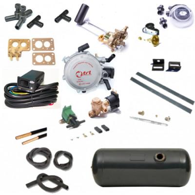 Комплект ГБО 2-го поколения для карбюраторного автомобиля ВАЗ-2101 - ВАЗ 2107, ТАВРИЯ, ЗАЗ с цилиндрическим баллоном смеситель газа Ваз 2101-2107 пластик
