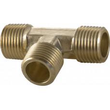 Тройник 8х8х8 металл для соединения медной трубки гбо 8мм.