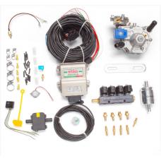 Мини-комплект ГБО 4 поколения STAG 4+ редуктор Alaska, форсунки Torelli, фильтр, температурный датчик Бельгия