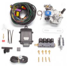 Мини-комплект ГБО 4 поколения KME Nevo редуктор Alaska, форсунки Torelli, фильтр, датчик уровня топлива AEB1090