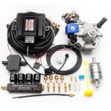 Мини-комплект ГБО 4 поколения STAG 200 GoFast редуктор Alaska, форсунки Torelli, фильтр, температурный датчик Бельгия