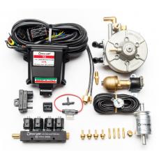 Мини-комплект ГБО 4 поколения Torelli T3 Pro редуктор Torelli Aries, газовый клапан Torelli №7, реверс 6х6, форсунки Torelli, фильтр, датчик уровня топлива AEB1090