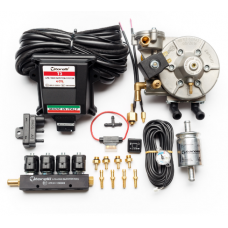 Мини-комплект ГБО 4 поколения Torelli T3 Pro редуктор Torelli Taurus, форсунки Torelli, фильтр, датчик уровня топлива AEB1090